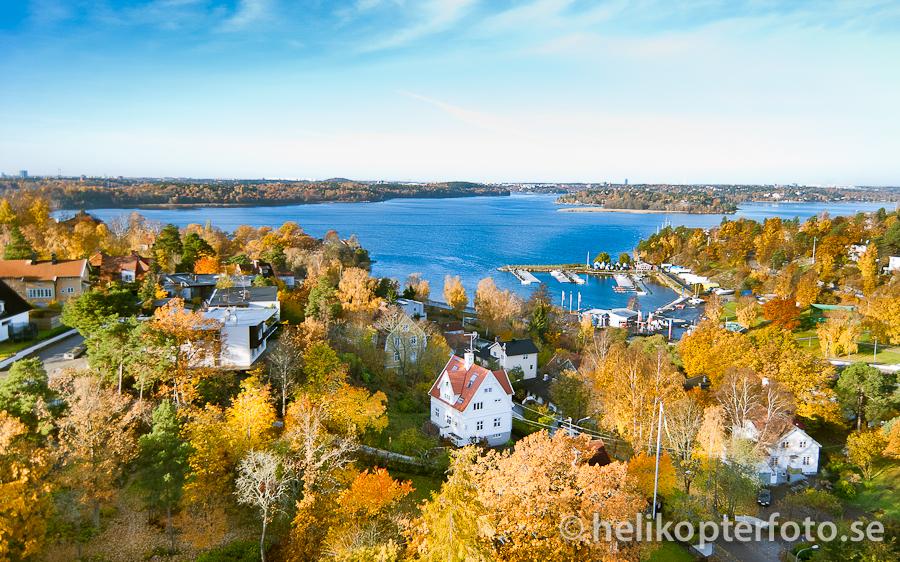 flygfoto av Lidingö