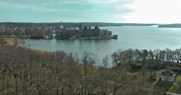 flygfoto av Gripsholms slott