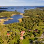 Flygfoto av Penningby, Norrtälje.