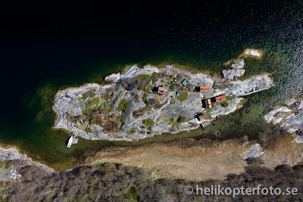 Flygfoto från Roslagens skärgård