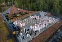 flygbild bröllop