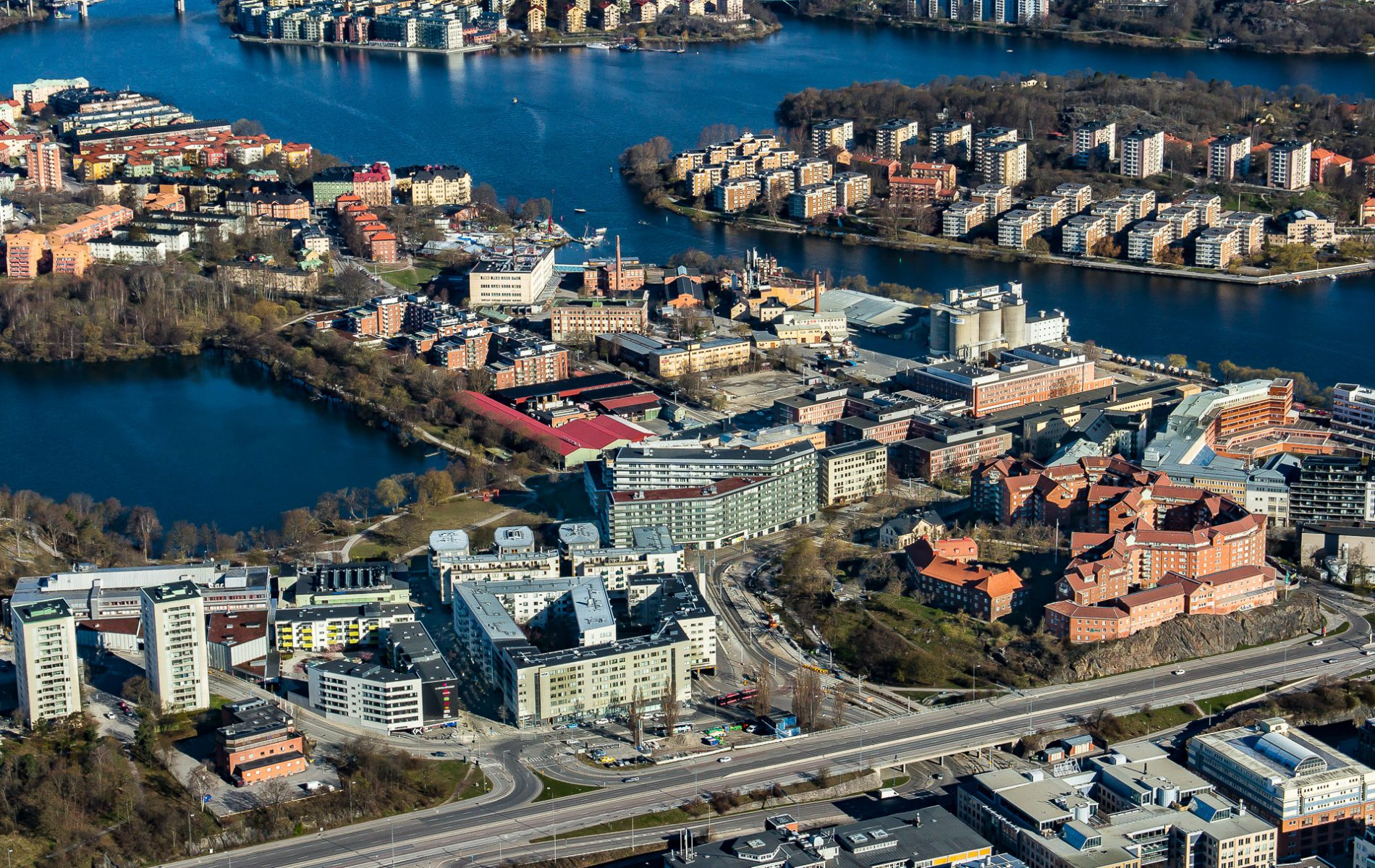 Drönarfoto från Liljeholmen