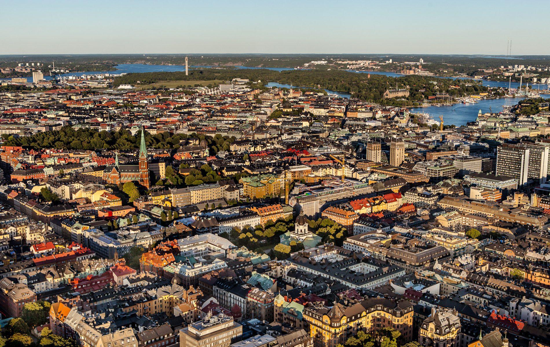 Norrmalm- Stockholm flygfoto