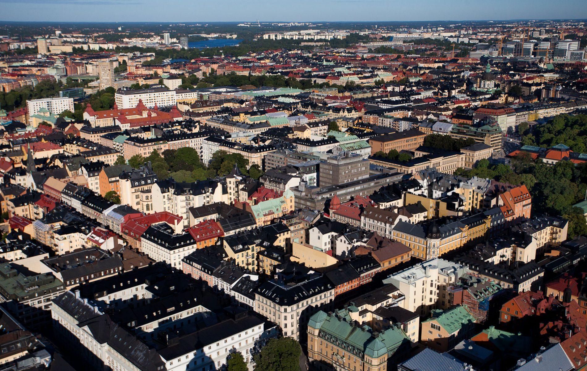 Stockholm City flygfoto