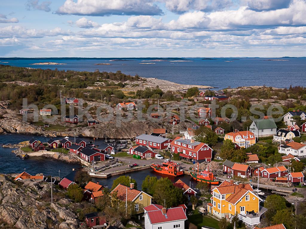 Drönarbild av byn Storhamn