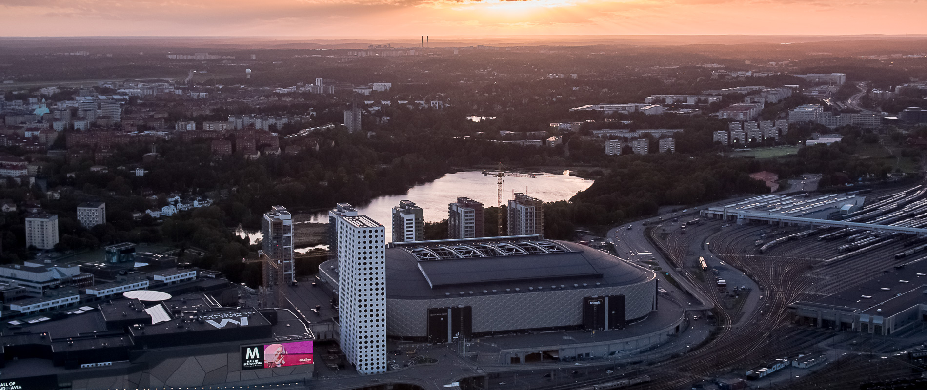 drönarfoto Friends arena