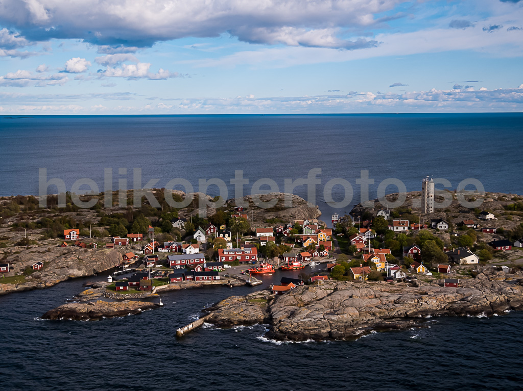 Storhamn på Öja, drönarfoto