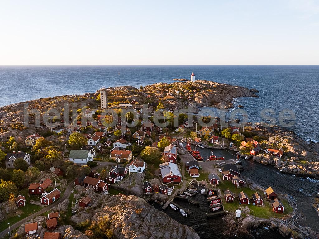 Storhamn på Öja, drönarbild