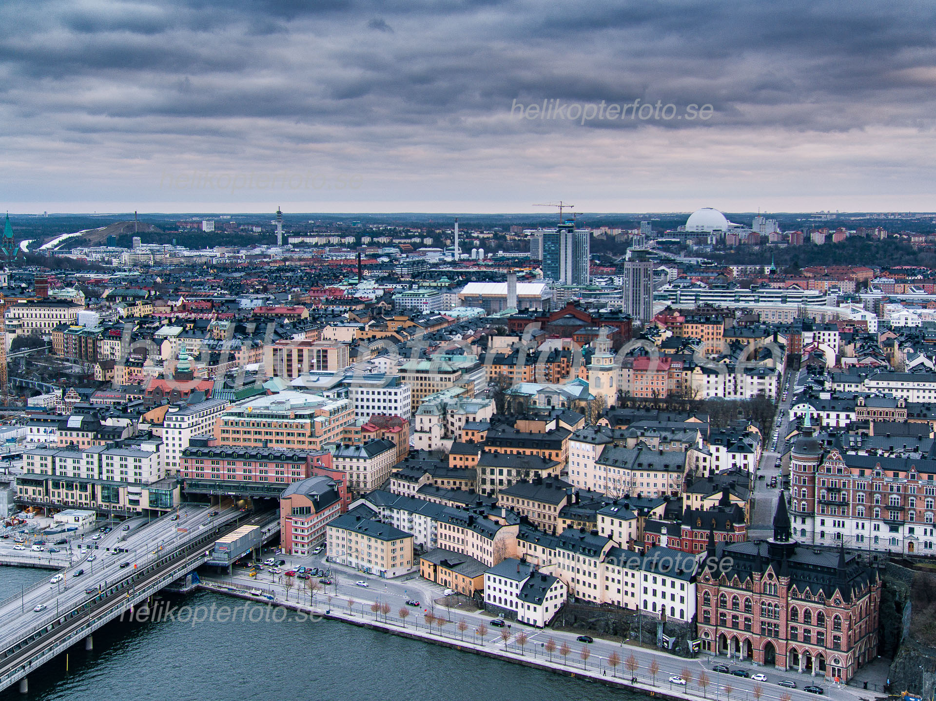 Söder Mälarstrand, drone operator Stockholm Sweden