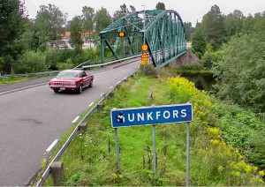 Fredrik Lindström kör Mustang i Munkfors