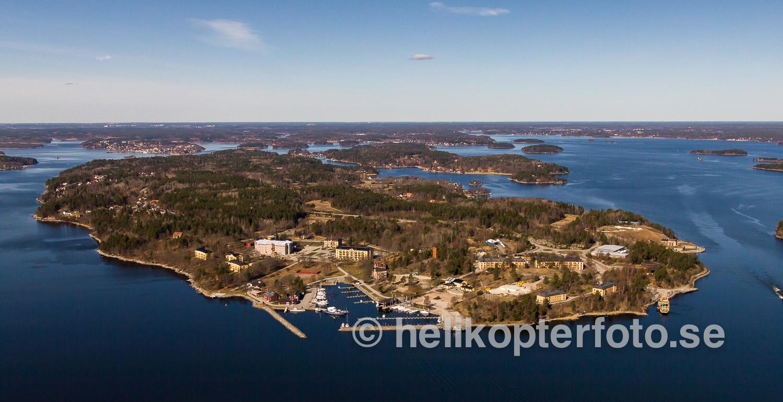 Flygfoto över f.d. KA1, Rindö