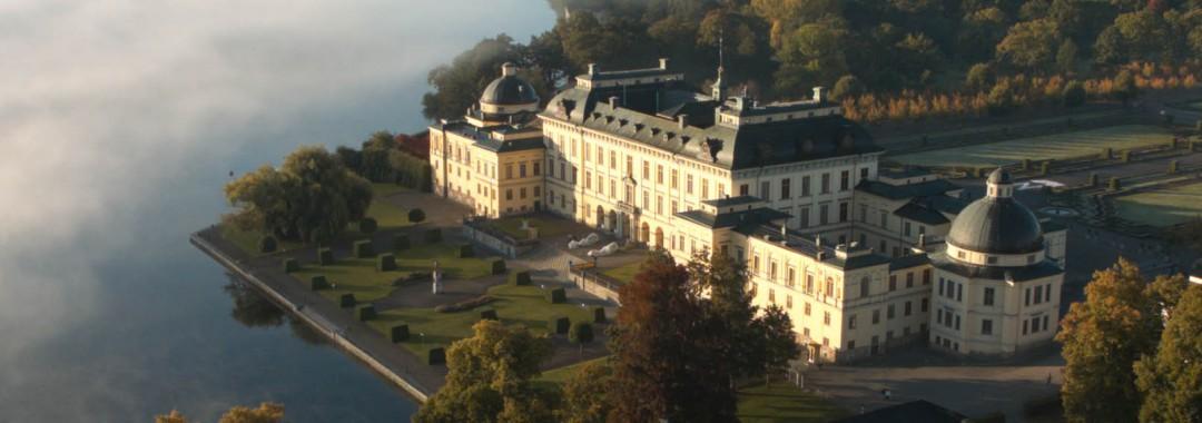 Flygfoto drönare Drottningholm