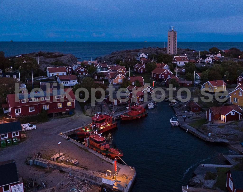 Byn Storhamn fotograferad från drönare
