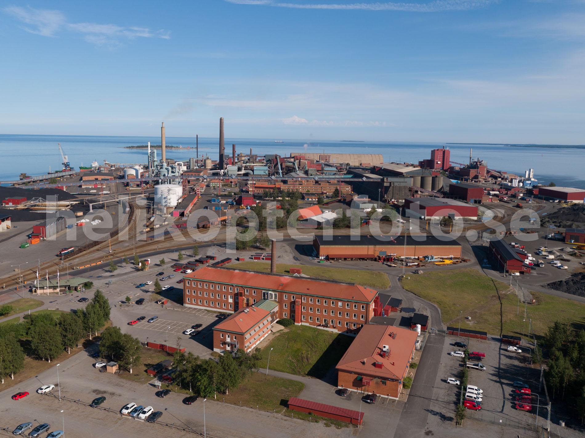 Drönarfoto av Rönnskärsverken, Skellefteå