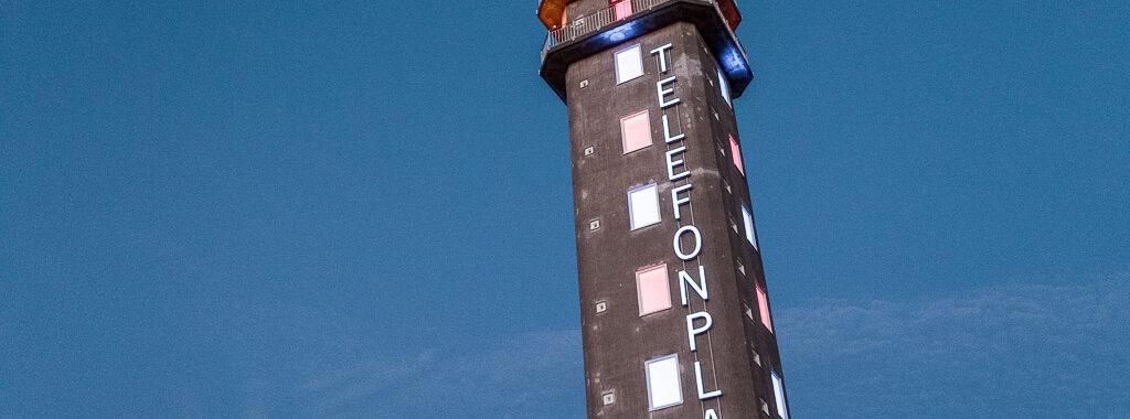 Drönarbild av tornet på Telefonplan