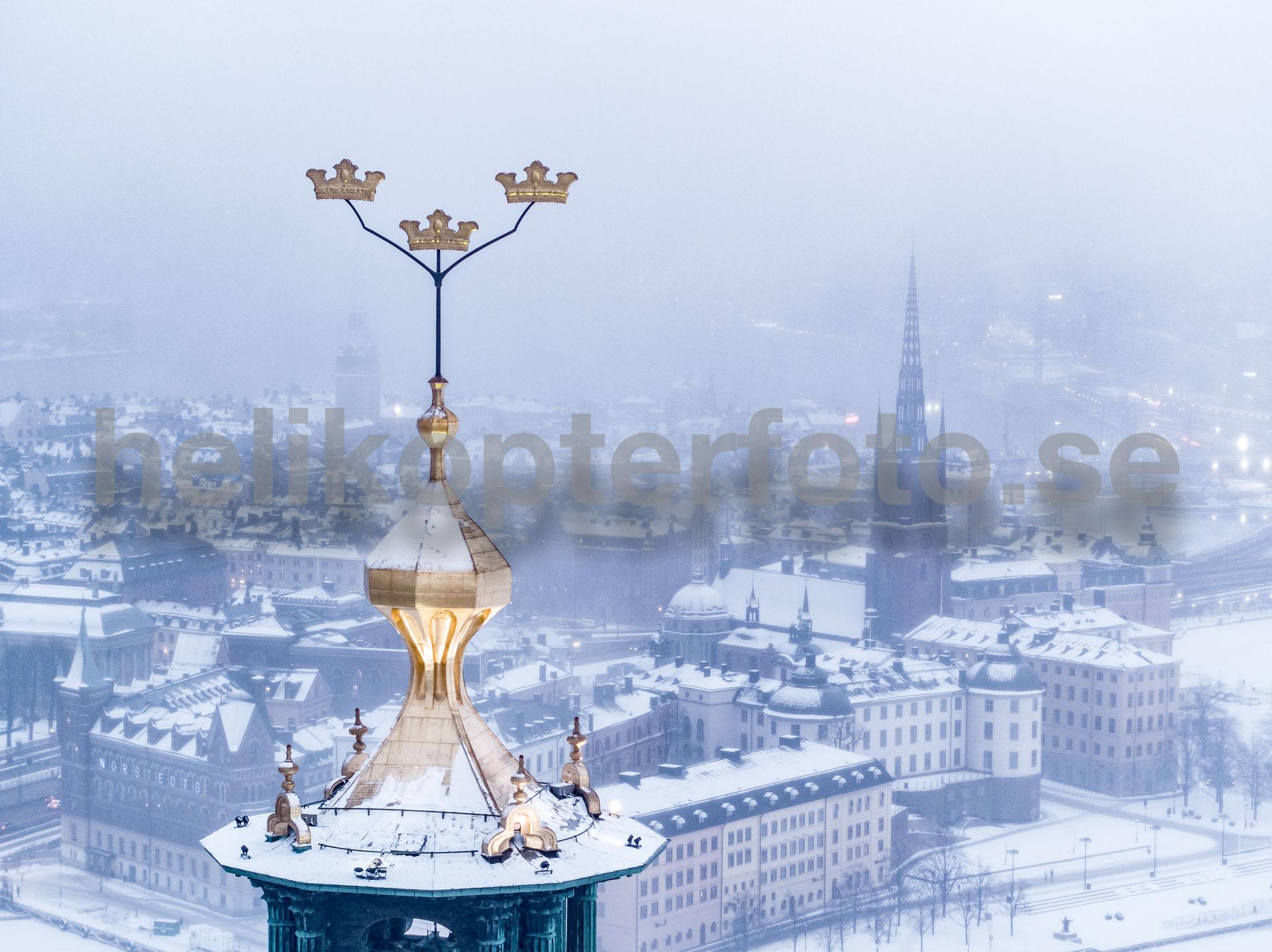 Flygfoto av Stockholms stadshus
