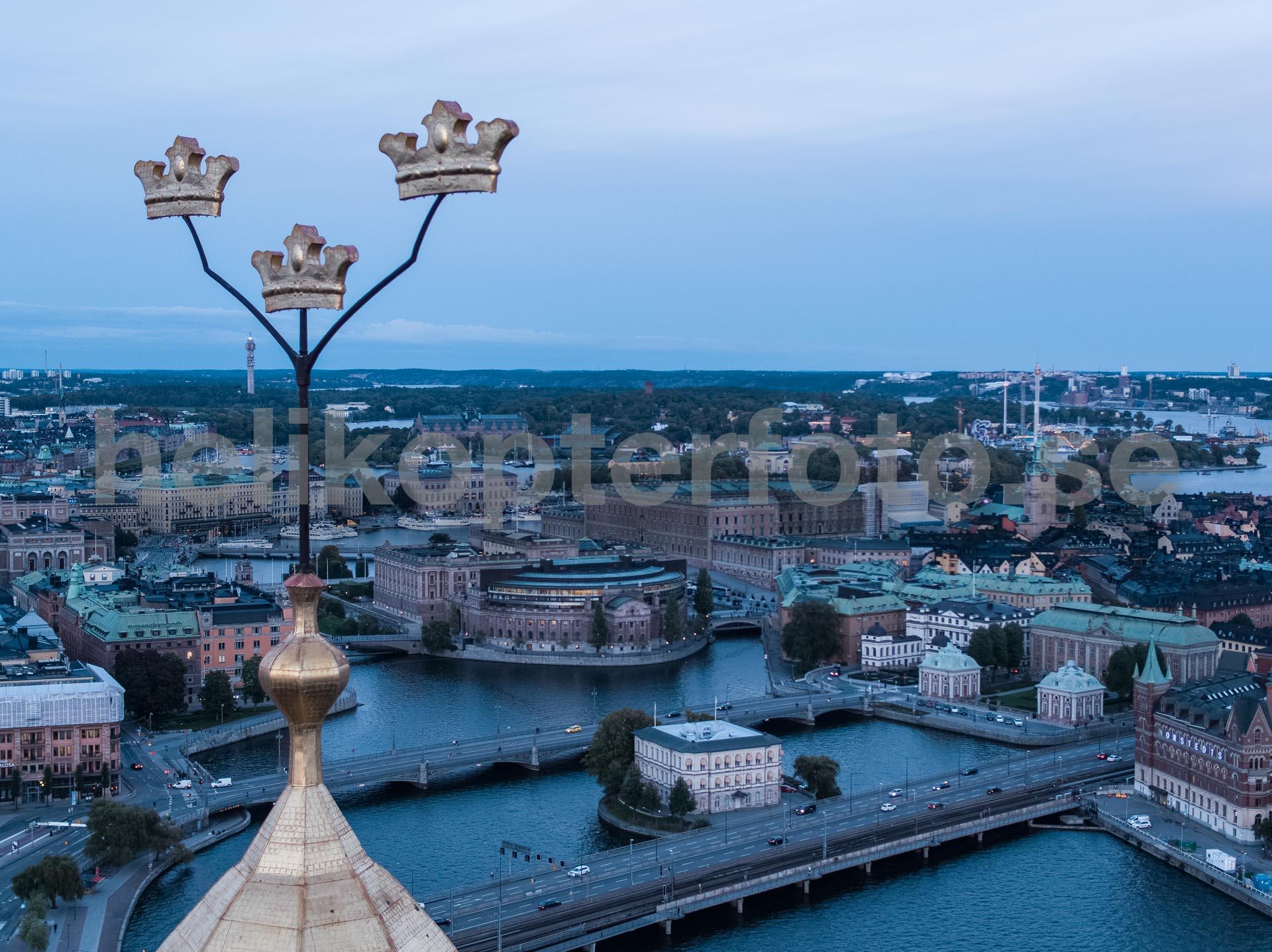 Foto från drönare över Stockholm